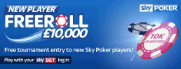 Sky Poker New Player Freeroll Info & Strategy