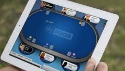 Playing Sky Poker on iPad