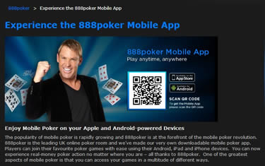 888Poker Mobile App UK