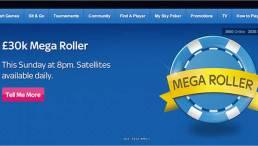 Sky Poker 30k Mega Roller