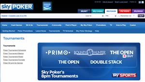 Sky Poker satellite tournaments info