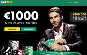 Poker Bet365 December offer