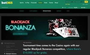 Bet365 Casino blackjack promotion
