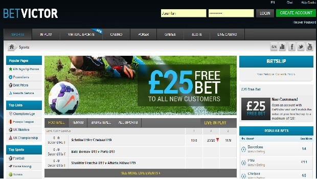 BetVictor Front Page