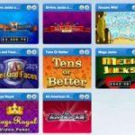 Coral Casino video poker games