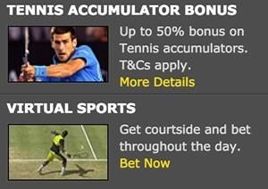tennis acca bonus Bet365