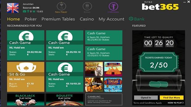 Play bet365 poker online
