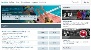 PokerStars Volleyball Bets