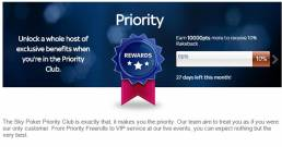 Sky Poker Priority Club Rewards