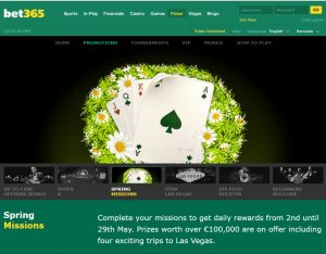Bet365 Spring Missions Promo