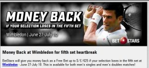 BetStars Wimbledon Money Back
