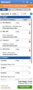 Coral European Coupon Acca Bet Slip