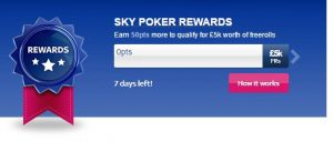 Sky Poker Rewards Meter