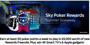 Sky Poker Rewards Summer Giveaway