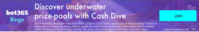 Bet365 Casino Bingo Cash Dive